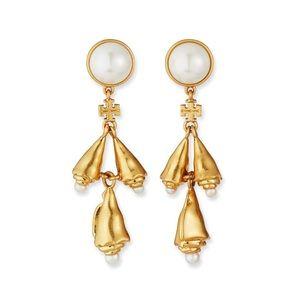 NIB Tory Burch Poetry of Things Pearls Earrings